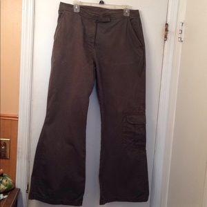 Vintage Express Bleus army green wide-leg pants